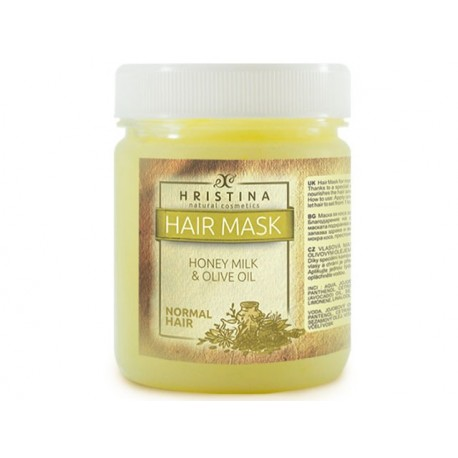 Mask for normal hair with honey, milk and olive oil