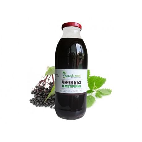 Черен бъз и маточина - Студен билков чай, Здравница (500 мл.)