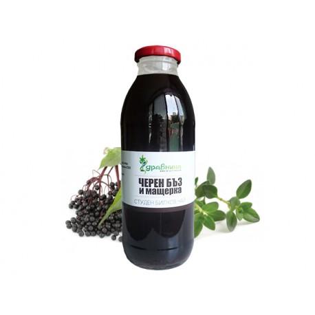 Черен бъз и мащерка - Студен билков чай, Здравница (500 мл.)