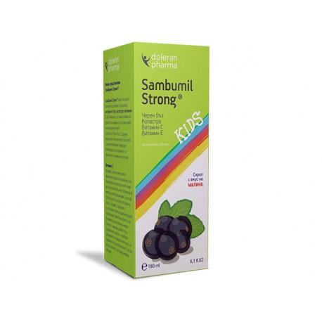 Самбумил Стронг сироп - черен бъз, коластра, витамини А и Е