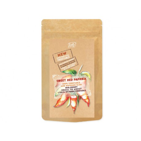 Хрупкави късчета паприка (сладък червен пипер) - 80 гр.
