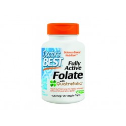 Fully Active Folate, Doctor's Best - 90 Veggie capsules