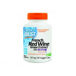 Best French Red Wine extract, Doctor's Best - 90 Veggie capsules