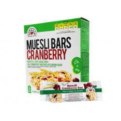Muesli Bars with Cranberry, Vitalia - 6 pcs