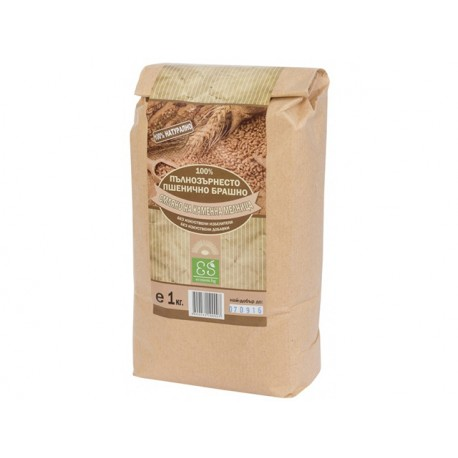 Natural full grain wheat flour, 1 kg