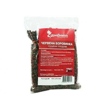 Червена боровинка, сушени плодове, Здравница, 100 гр.