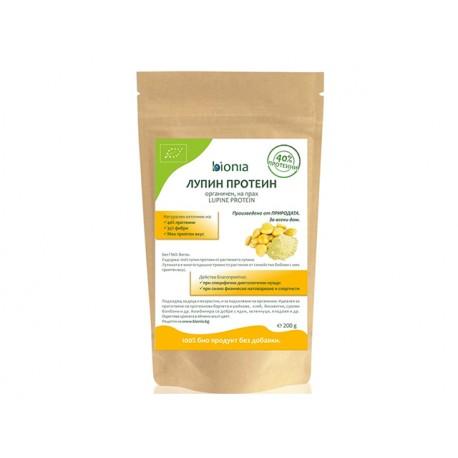 Лупин протеин, органичен, на прах, Биониа, 200 гр.