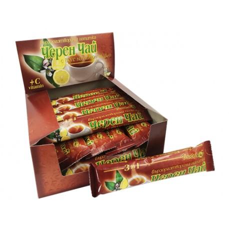 Бързоразтворим черен чай, с аромат на лимон, кутия, 20 пакетчета