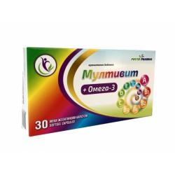 Мултивит + Омега-3, ФитоФарма, 30 капсули