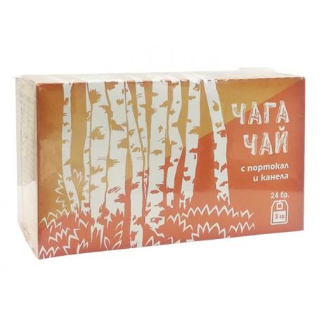 Чага Чай с портокал и канела, 24 филтърни пакетчета