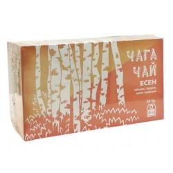 Чага Чай с ябълка, круша и смокинови листа, 24 филтърни пакетчета