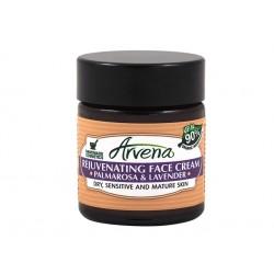 Възстановяващ крем за лице с палмроза и лавандула, Арвена, 30 мл.