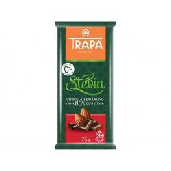 Тъмен шоколад 80% със стевия и малтитол, Трапа, 75 гр.