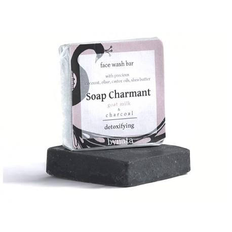 Сапун за лице с козе мляко и активен въглен, Soap Charmant, 20 гр.