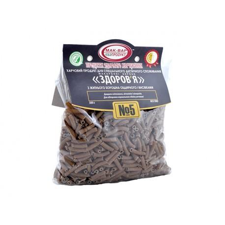 """Макарони """"Здраве"""" №5, от пълнозърнесто ръжено брашно, 500 гр."""