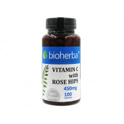 Vitamin C with Rose Hips, Bioherba, 100 capsules