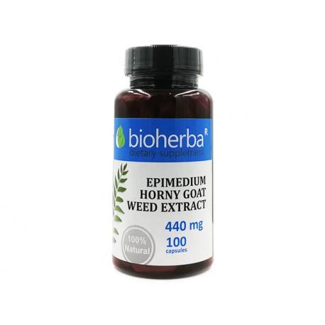 Епимедиум, екстракт от разгонен козел, Биохерба, 100 капсули