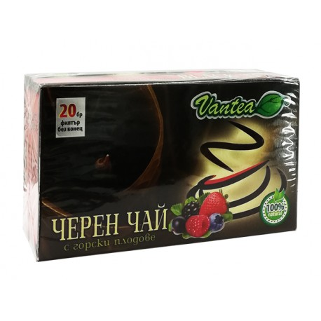 Черен чай с горски плодове, Вантеа, 20 филт. пакетчета
