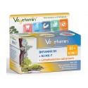 Витамин D3, K2 Mk-67 и червени водорасли, Вегетамин, 60 капсули