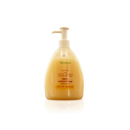 Течен сапун за ръце с масла от ветивер и цитронела, Биоло, 300 мл.