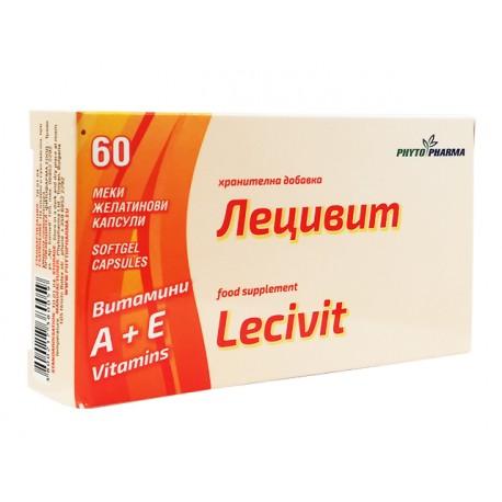 Lecivit, vitamin A+E, PhytoPharma, 60 capsules