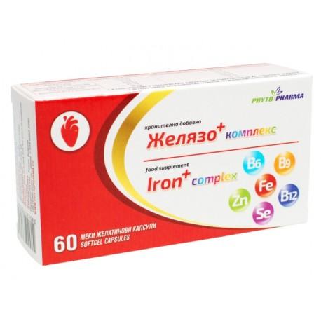 Желязо - комплекс, ФитоФарма, 60 капсули