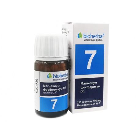 Mineral salt №7, Magnesium Phosphoricum D6, Bioherba, 230 tablets