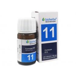 Mineral salt №11, Silicea D12, Bioherba, 230 tablets