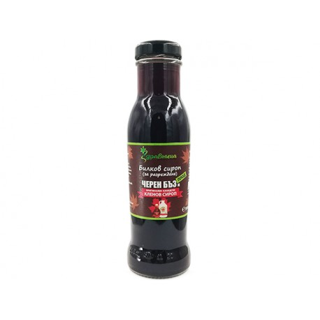 Elderberry and Maple, Herbal Syrup, concentrate, Zdravnitza, 285 ml