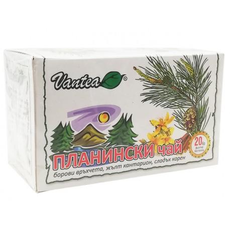 Планински чай, натурален, Вантеа, 20 филт. пакетчета