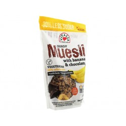 Crunchy Muesli with banana, chocolate and brown sugar, 375 g