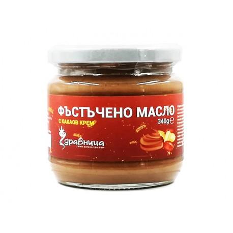 Фъстъчено масло, с какаов крем, Здравница, 340 гр.