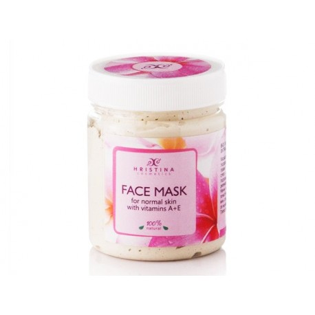 Face Mask for normal skin with Vitamins A and E, Hristina, 200 ml