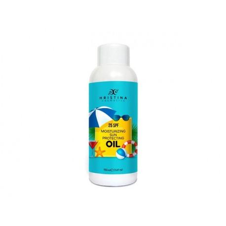 Moisturizing Sun Protecting oil, 25SPF, Hristina, 150 ml