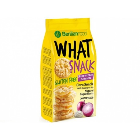 What Snack - sour cream and onion, gluten free, 50 g