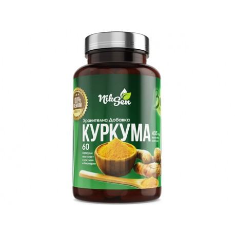 Turmeric, joints and bones support, Niksen, 60 capsules