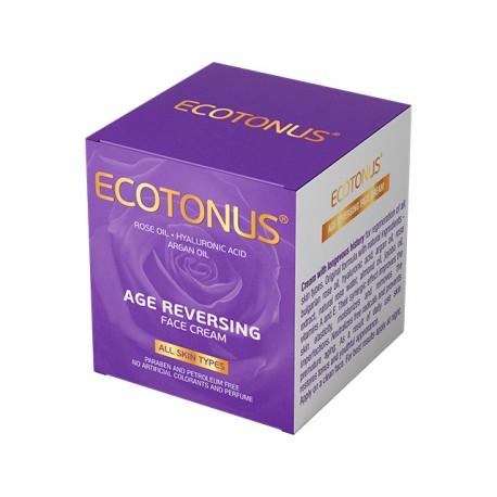 Подмладяващ крем за лице с розово масло, Екотонус, 50 мл.