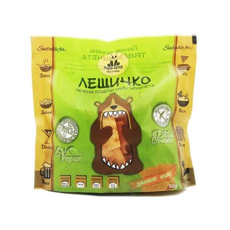 Лещичко, печен лещен чипс - зелено чили, 50 гр.