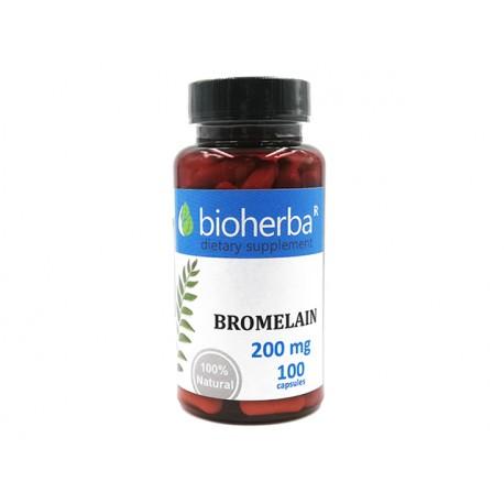 Бромелаин, комзплекс от ензими, Биохерба, 100 капсули