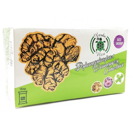 Ginger, Echinacea, Stevia - instant health drink, 15 sachets