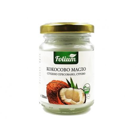 BIO Coconut oil, raw, cold pressed, Folium, 150 ml
