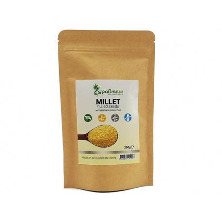 Millet, hulled seeds, natural, Zdravnitza, 200 g