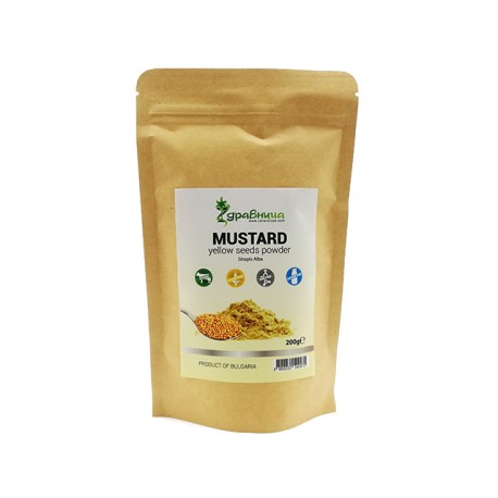 Mustard, yellow seeds powder, Zdravnitza, 200 g