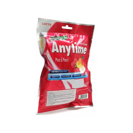 Anytime Xylitol Candy, plum and peach, sugar free, 74 g