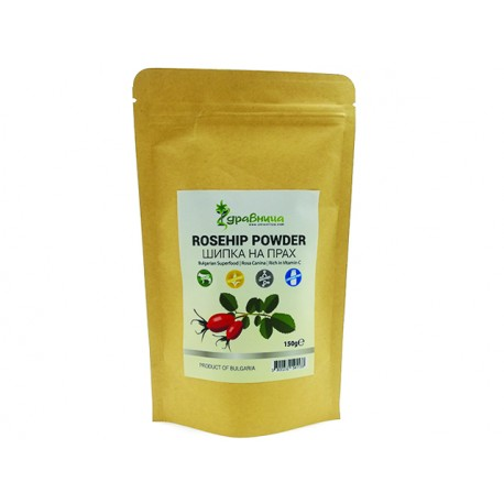 Rosehip (fruit) powder, pure, Zdravnitza, 150 g
