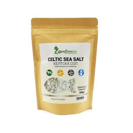 Келтска (морска) сол, гранули, изсушена, Здравница, 500 гр.
