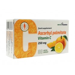 Ascorbyl palmitate, fat-soluble Vitamin C, PhytoPharma, 30 capsules