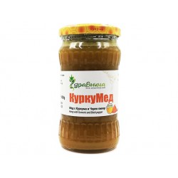 Curcumed, Honey with Turmeric and Black pepper, Zdravnitza, 400 g