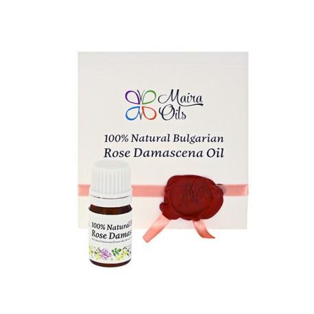 Natural Bulgarian Rose Damascena oil, Maira, 1 ml