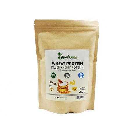 Wheat protein isolate, pure, powder, Zdravnitza, 400 g